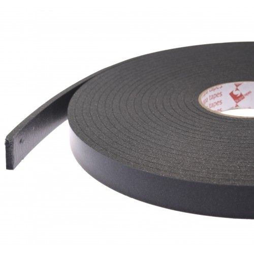 3829 Black Single Sided Foam Tape